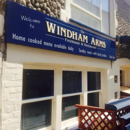 Windham Arms: Outside our restaurant area
