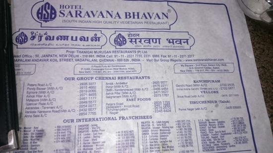 Hotel Saravana Bhawan