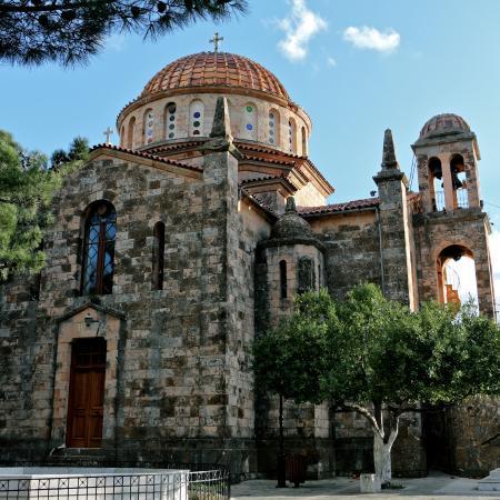 West Attica Region, Grécia: Ιερός Ναός της Μεταμορφώσεως. Έργο του αρχιτέκτονα Ερνέστου Τσίλερ.