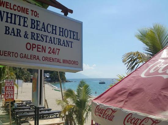 White Beach Hotel Bar And Restaurant Signage