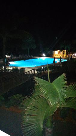 The Charter Club of Marco Beach: Looking over the pool from room 104