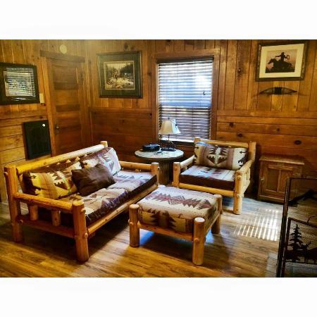 cowboy living room. Shaver Lake Village Hotel  Cowboy Cabin Living Room Picture of