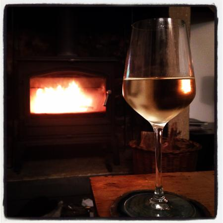 Over Haddon, UK: Wine by the log burner