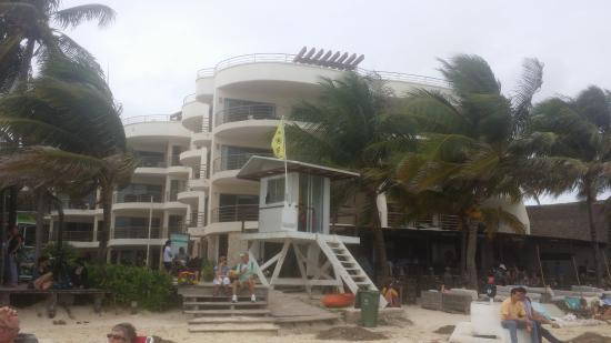 Corto Maltes Ocean Front Luxury Vacation Condos: View from the beach