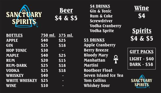 Grand Ledge, MI: Bottles & Drinks Menu