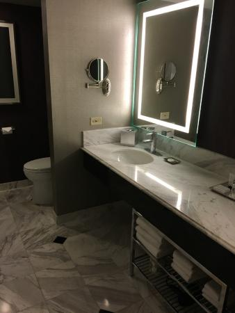 Mgm Grand Hotel And Bathroom In Executive Queen Suite Double Vanity Tub