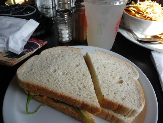 Black Bear Coffee House : Chicken salad sandwich from the cold case