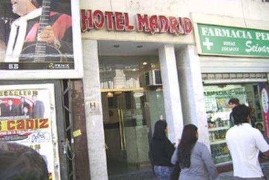 Hotel Madrid: Frente