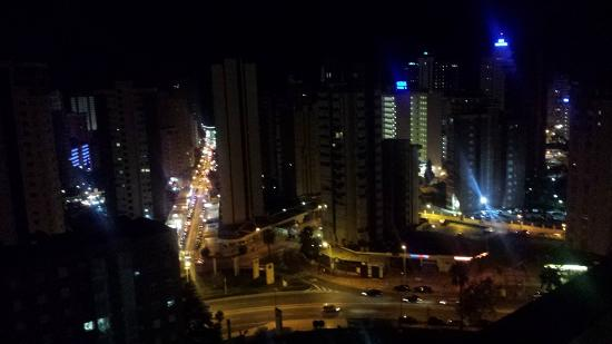 Gemelos 12: view across from us at night