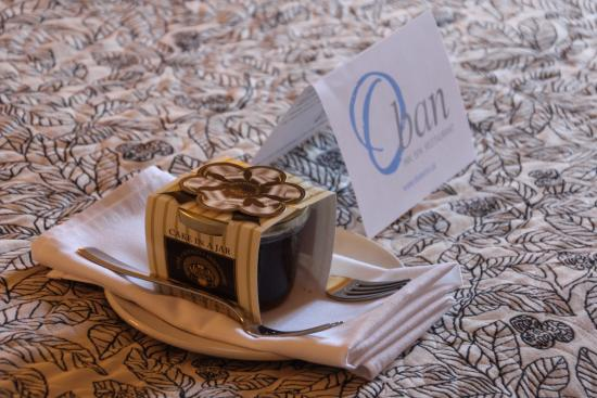 Oban Inn, Spa and Restaurant: A birthday gesture on our arrival