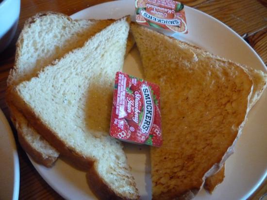 Nenana View Bar & Grille: Breakfast 8/15/15-side order toast