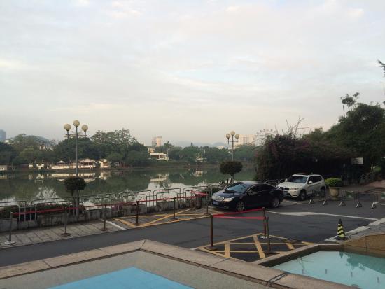 Φουζχού, Κίνα: ホテル前の眺め
