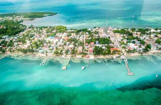 Caye Caulker From Above Picture Of Tsunami Adventures