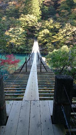 ホテルから行ける夢の吊橋