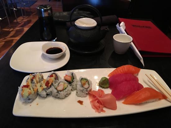 Addison, IL: Sushi platter: $15 + tax
