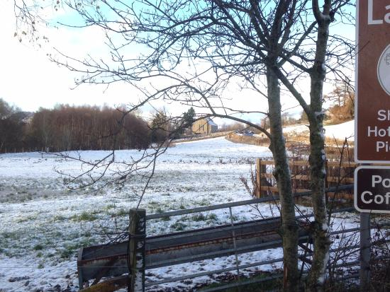 Newtonmore, UK: View from the farm to Laggan
