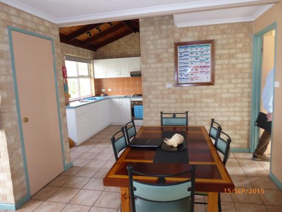Yot Spot Apartments: The kitchen/dining area