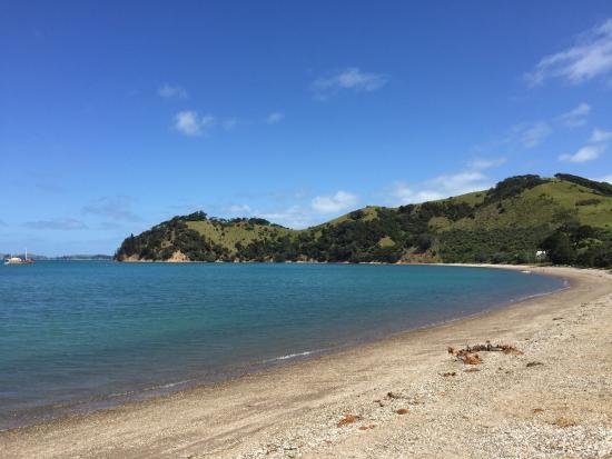 Waiheke Adası, Yeni Zelanda: Man O'War overlooking beautiful beach