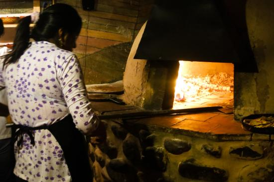 Pizza Wasi: Wood-fired brick oven