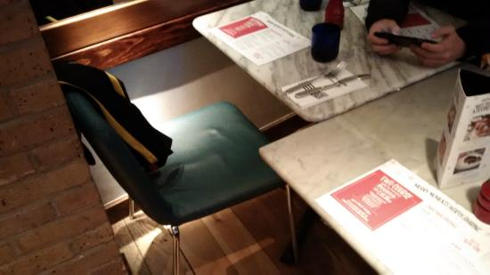 Pizza Express : behind us, chairs from next table jammed against our chairs
