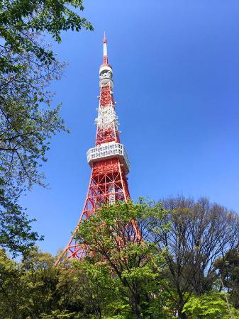 Tokyo Prince Hotel: Tokyo Tower, you can see this tower once you enter the hotel ground