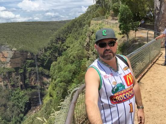 Blackheath, Australia: looking down at the water fall