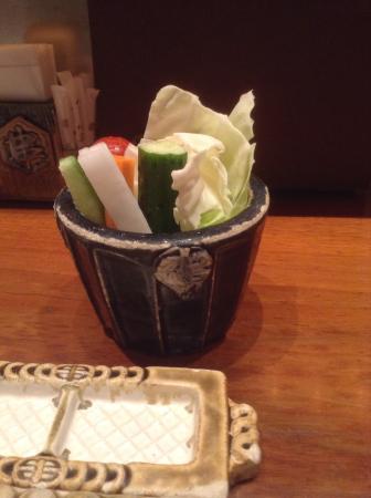 Kushinobo Shinjuku Isetan Kaikan: 野菜スティック