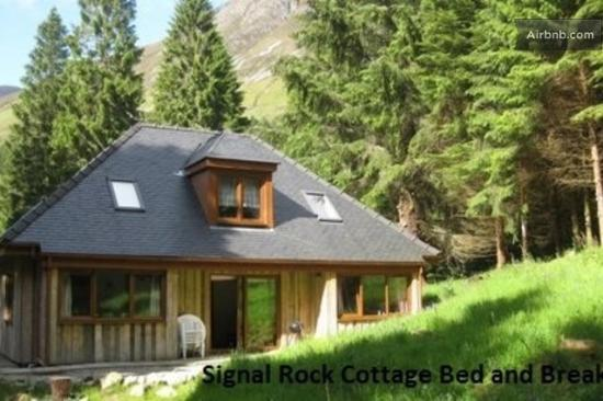 signal rock cottage in the summer glencoe scotland picture of