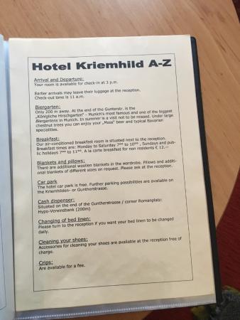 Hotel Kriemhild: Hotel guidebook