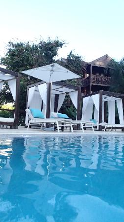 Pool side lounge beds- first come first serve- fabulous