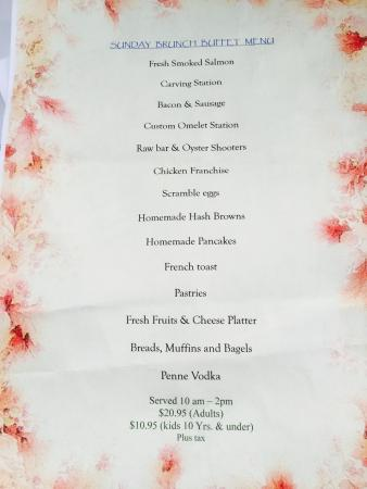 Waretown, NJ: Miranda Ray's Sunday Brunch Menu