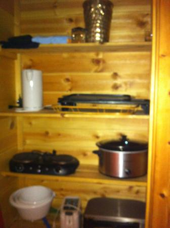 Cabins at Sugar Mountain: A whole closet full of cooking supplies