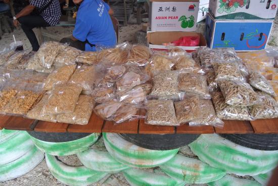 Redang Beach: Dried seafood