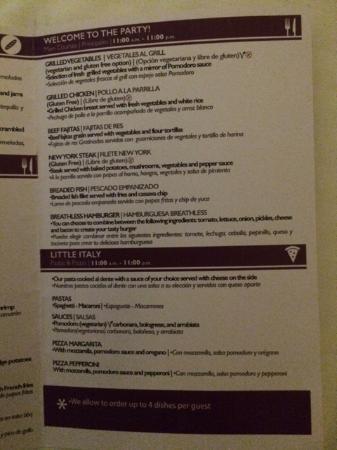 Image Result For Hard Rock Punta Cana Room Service Menu