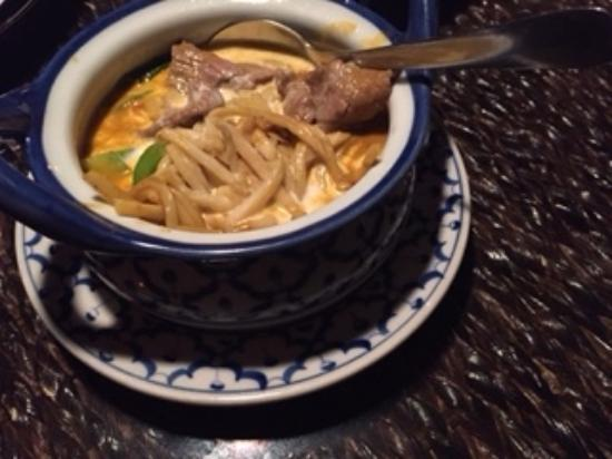 Bua Thai Restaurant : Red beef curry
