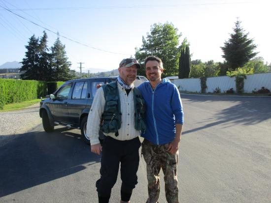 Southern Rivers Fly Fishing: Me and Jake when he picked me up in Wanaka