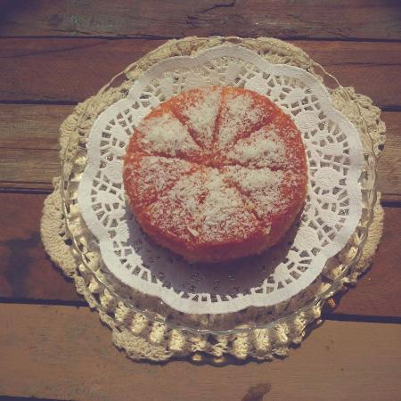 Anjuna, India: Aroma Cake - orange, coconut & semolina