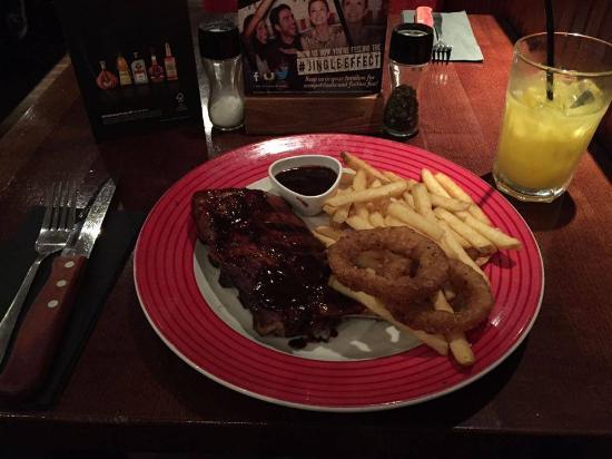 TGI Friday's - Nottingham: BBQ Rib and watery orange juice