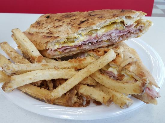 Jasper, FL: Cuban sandwich with coated fries.