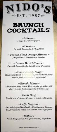 brunch menu picture of nido s little italy ristorante frederick rh tripadvisor com