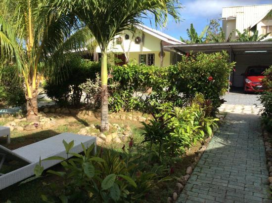 Jamalac Bungalows: Вид с веранды на двор