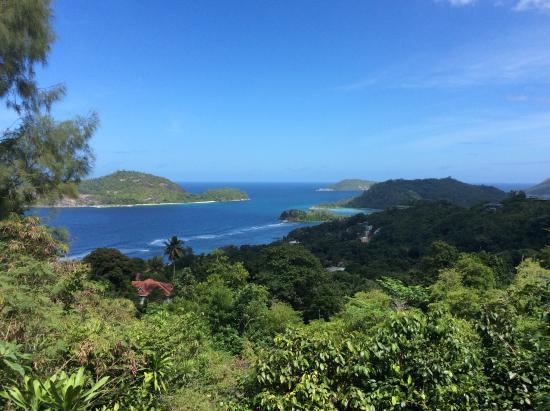 Jamalac Bungalows: Вид на побережье с отелем