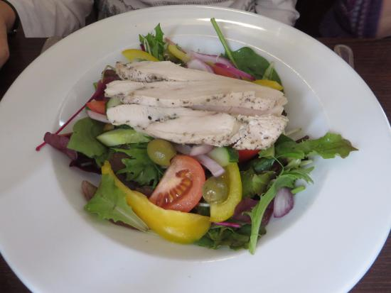 The Royal: Greek Salad with herb chicken
