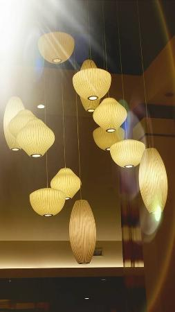 Hilton Garden Inn Lafayette/Cajundome: Lovely lobby lights