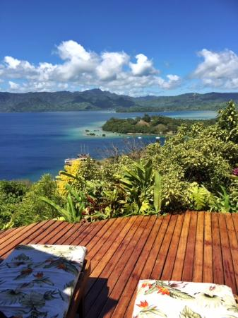 Naveria Heights Lodge: View from the deck