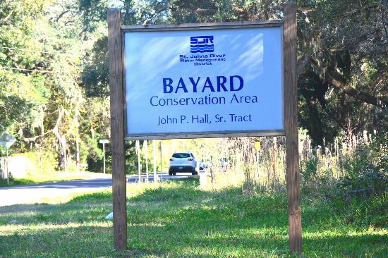 Green Cove Springs, FL: Bayard Conservation Center - the John P Hall entrance