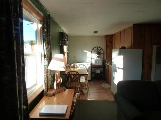 South Fork, CO: Kitchen/dining area of cabin