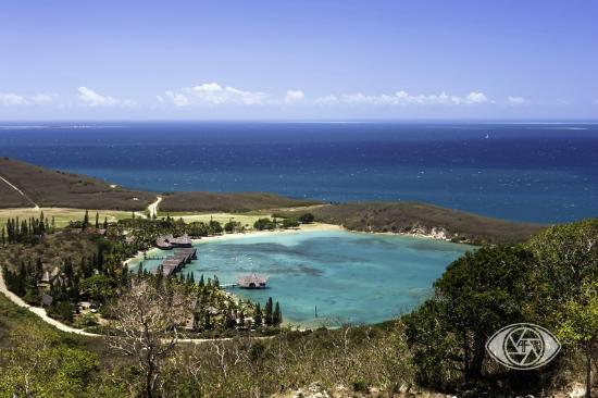 Kuendu Beach Resort: Vue du fort Téréka