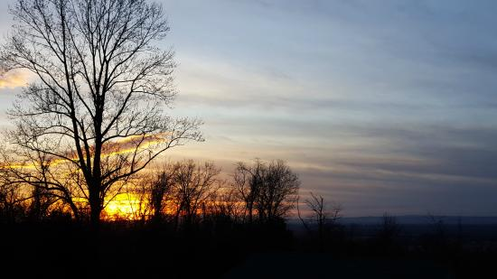 Keedysville, MD: Beautiful sunset over Antietam Battlefield