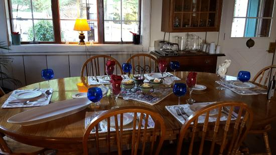 Keedysville, MD: Breakfast table